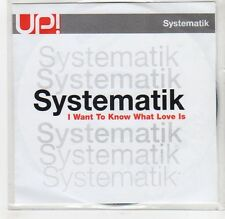 (GF515) Systematik , I Want To Know What Love Is - 2003 DJ CD