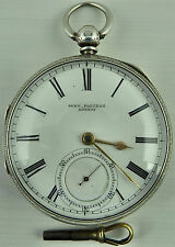 Antique silver fusee pocket watch John Forrest, London1896 In good Working Order