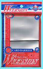 80 KMC CLEAR Standard Size Card Barrier Sleeves NEW MTG Deck Protector Hard