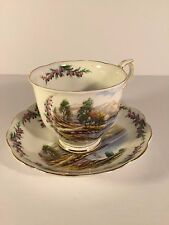 Royal Albert Road to the Isles Traditional British Songs Cup Saucer Teacup
