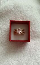 Artisan's Vintage Pink Topaz Sz 8 Ring  set in yellow Gold filled New