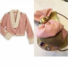 8 10 Stella McCartney Kids Lee Military Jacket wool pink HAT fascinator