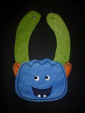 NEW Carter's Blue Monster Baby Boys Terry Cloth Teething Drool Bib
