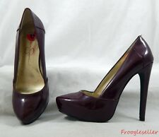 "Jessica Simpson womens ""Fiona"" pumps heels shoes US 6 B EUR 36 burgundy patent"