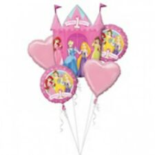 Disney Princess 1st Birthday Party Foil Birthday Balloon Bouquet 5ct Supplies