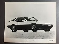 1980 Porsche 924 Turbo Coupe B&W Press Photo P+A Issued RARE!! Awesome L@@K