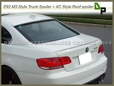 #300 White Color Trunk Spoiler & Roof Spoiler For BMW E92 3-Series Coupe 07-13