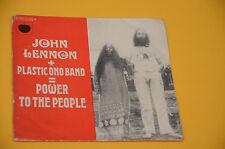 """7"""" 45 JOHN LENNON POWER TO 1° ST ORIG FRANCE SOLO COPERTINA ONLY COVER"""