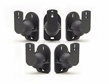 5 Pack Lot Universal Satellite Speaker Black Wall Mount Brackets fits Bose Sony