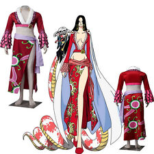 New Arrival One Piece Boa Hancock Cosplay Costume Sexy Gorgeous Dress Customize