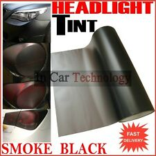 SMOKE Matt Black Headlights Tail Lights Tint Vinyl Film Car Van Wrap 30cm x 60cm