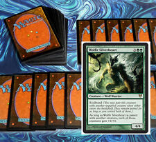 mtg GREEN WOLVES DECK Magic the Gathering rare cards Wolfir Silverheart