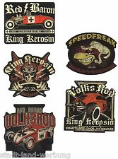 33 King Kerosin Set Red Baron Aufkleber/Sticker/Rockabilly/Hot Rod/Oldschool/V8