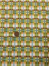 Mischief 2883 Green Check 100% Cotton Quilting Fabric Benartex Nancy Halvorsen