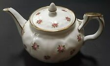 Aynsley Rosedale Fine Bone China Teapot 1940's 22k Gold Trim