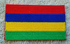 MAURITIUS FLAG PATCH Embroidered Badge Iron Sew 4.5 x 6cm République de Maurice