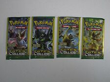 Pokemon 4 Sealed Fates Collide 3 card Booster Packs. Dollar store sample packs