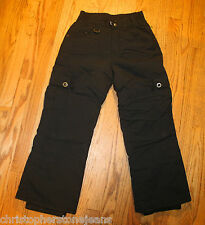 ROXY YOUTH GIRLS SNOWBOARD PANTS SIZE SMALL IN BLACK PADDED KNEES AND BOTTOM