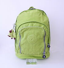 NWT Kipling Hiker Expandable Backpack With Furry Monkey Citron (Apple Green)