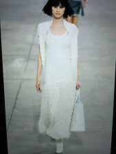 CHANEL 14P NEW TAGS AMAZING Ecru Dress with Bow Embellishments Pearl CC FR36 $7K