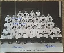 1945 World series Detroit Tigers Autographed 16x20 by 6 DECEASED Virgil Trucks