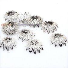 200x 161037 Wholesale Silver Plated Flower End Bead Caps Jewelry Findings 16mm