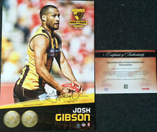 JOSH GIBSON SIGNED HAWTHORN 2014 PREMIERS HEROGRAPH GRAND FINAL AFL PHOTO