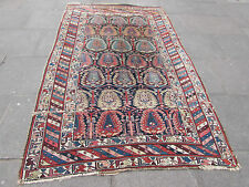 Antique Shabby Chic Hand Made Traditional Caucasian Blue wool Rug 282x171cm