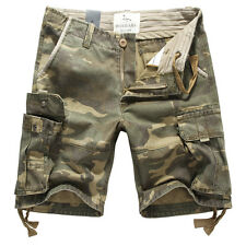 NEW MENS FOXJEANS CAUSAL CAMO MILITARY ARMY MEN'S CARGO WORK SHORTS SIZE 36