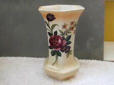 1906 - 12  SIX SIDED BURLEIGH WARE VASE / SPILL HOLDER WITH A FLORAL PATTERN