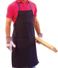 "1 Denim Shop Apron Indigo Color - 36""L x 24""W Mechanic, Cook, Heavy Duty Aprons"