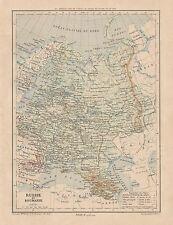 C9095 Russie et Roumanie - Cartina geografica antica - 1892 antique map