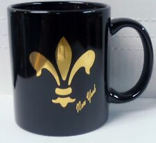 New York Fleur-De-Lis Design By Kings Black Coffee Mug by M Ware BRAND NEW