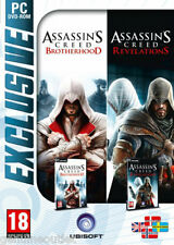 Assassin's Creed Brotherhood & Assassin's Creed Revelations 2 Games for PC NEW