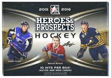 2015/16 LEAF HEROES & PROSPECTS HOCKEY HOBBY BOX WITH 10 HITS!