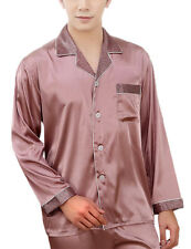 New Mens Silk Satin Robes Loungewear Sleepwear Pajamas Suit Nightclothes Cosy L
