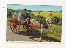 Delivering Milk To The Creamery 1978 Postcard Ireland 583a