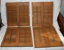 VINTAGE LOT OF FOUR DOUBLE WOODEN HOUSE WINDOW SHUTTERS!