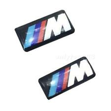 2 pcs Self-Adhesive M Sport BADGE STICKER EMBLEM For BMW M3 M5 M6 Wheel New OT8G