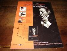 SERGE GAINSBOURG - PUBLICITE DE GAINSBOURG A GAINSBARRE