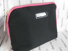 NEW LANCOME PARIS COSMETIC MAKE-UP BAG CASE ORGANIZER BLACK PINK Fabric NEW
