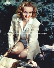 ACTRESS CAROLE LOMBARD LEGGY, HER SKIRT HIKED UP ABOVE HER THIGHS PHOTO A-CL9