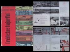 L'ARCHITECTURE D'AUJOURD'HUI n°72 1957- Jean Prouvé, ECOLE VILLEJUIF, MARTIGUES
