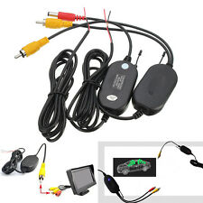 2.4G Wireless RCA Video Transmitter & Receiver Fit For Car Vehicle Backup Camera