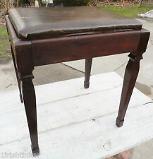 Sewing Machine Stool Chair Seat Cabinet Singer Wood Piano Bench Vintage FreeShip