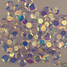 Sequins Crystal Iris/AB (Blue Tint) 10mm Round Cup 240 pieces