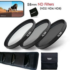 Xtech 58mm ND Filter KIT - ND2 ND4 ND8 for Canon EOS Rebel T3i