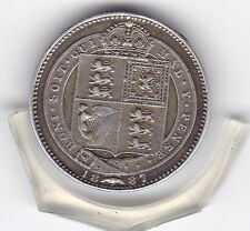 1887  Queen  Victoria  Sterling  Silver  Shilling  British Coin