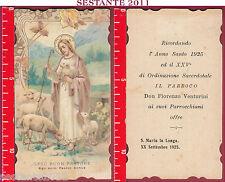 2106 SANTINO HOLY CARD GESù BUON PASTORE ANNO SANTO 1925 S. MARIA LA LONGA