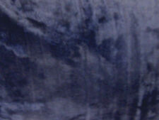 Navy Blue Faux Fur  Fabric Material By The Metre